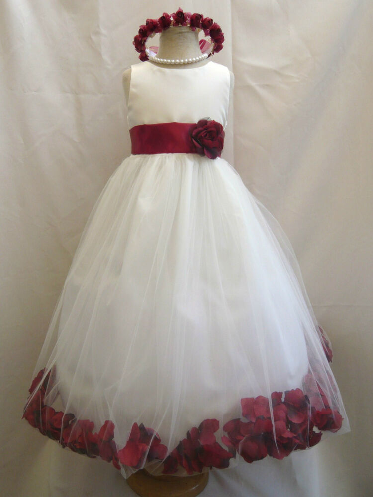 IVORY/APPLE RED INFANT TODDLER RECITAL WEDDING PAGEANT PARTY ...