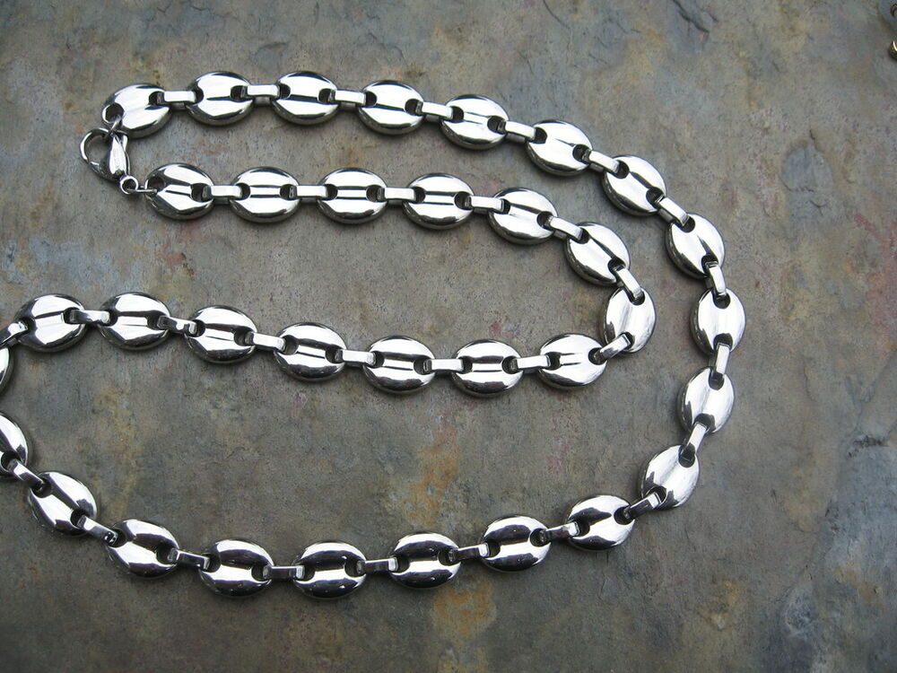 Stainless Steel Neck Large Open Link Chain Necklace 18 ...