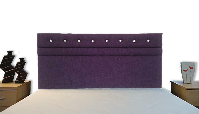 Tori bling headboard all colours bed all sizes linen - All in one double bed ...