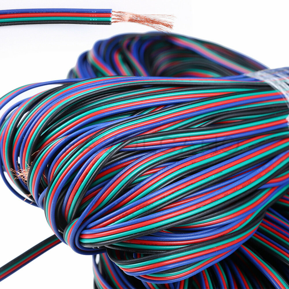 4 Pin Rgb Extension Wire Cable Cord For 3528 5050 Rgb Led