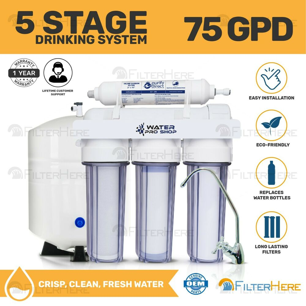 Made In Usa Reverse Osmosis Water Filter System 5 Stage 75