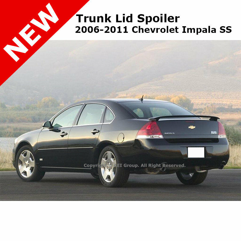 chevrolet impala ss 06 13 abs trunk rear wing aero spoiler painted clearcoated ebay. Black Bedroom Furniture Sets. Home Design Ideas