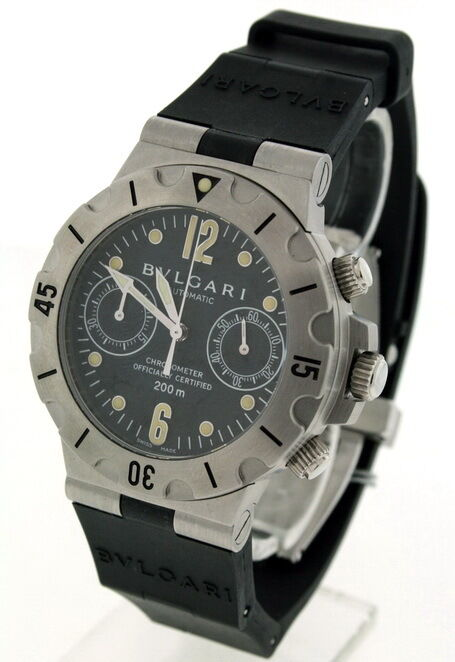 Bvlgari diagono men 39 s chronograph 38mm automatic watch ebay for Watches 38mm