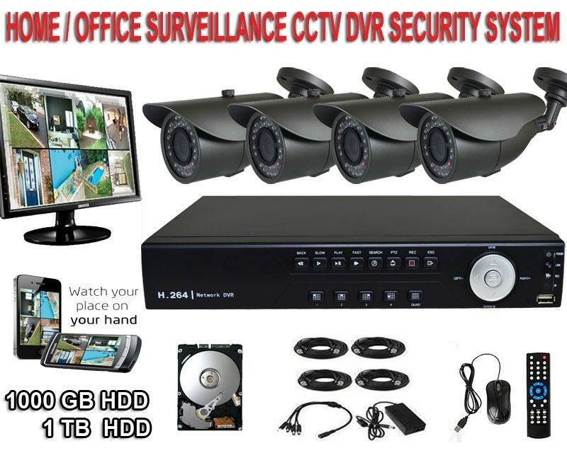 4 Channel Cctv Complete Surveillance Security Camera Dvr