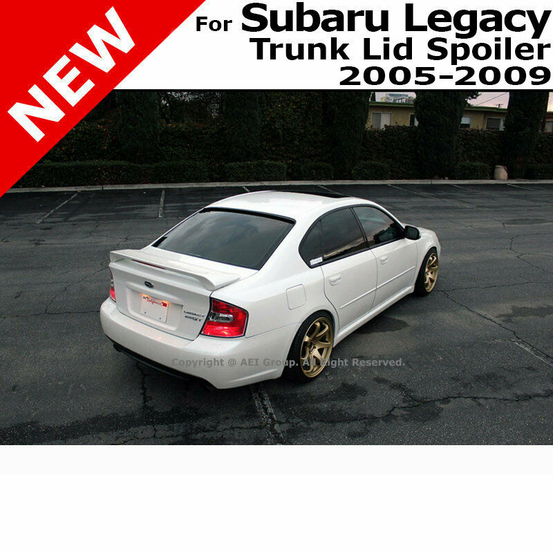 subaru legacy 05 09 abs trunk aero 3rd brake rear wing spoiler unpainted primer ebay. Black Bedroom Furniture Sets. Home Design Ideas