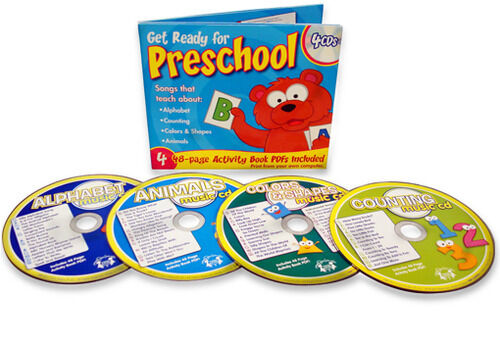 books with cd for preschoolers preschool 4 cd set with alphabet counting colors 58516