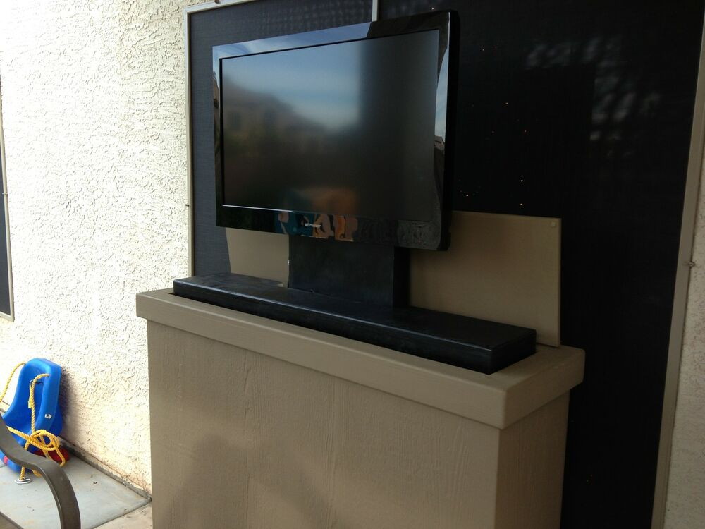 pop up tv plans hidden lcd plasma cabinet lift - Tv Lift Cabinet