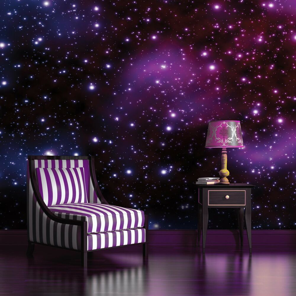 vlies fototapeten fototapete tapete wandbild weltraum galaxie stern all 177 ve ebay. Black Bedroom Furniture Sets. Home Design Ideas