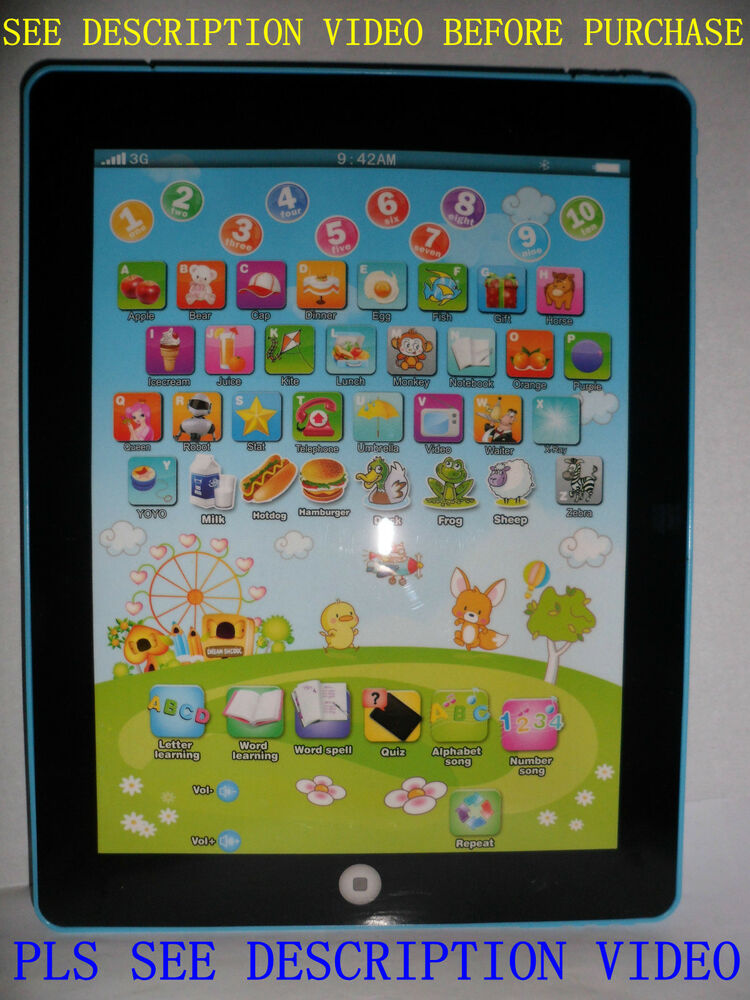 Children English Learning Computer Tablet Education For
