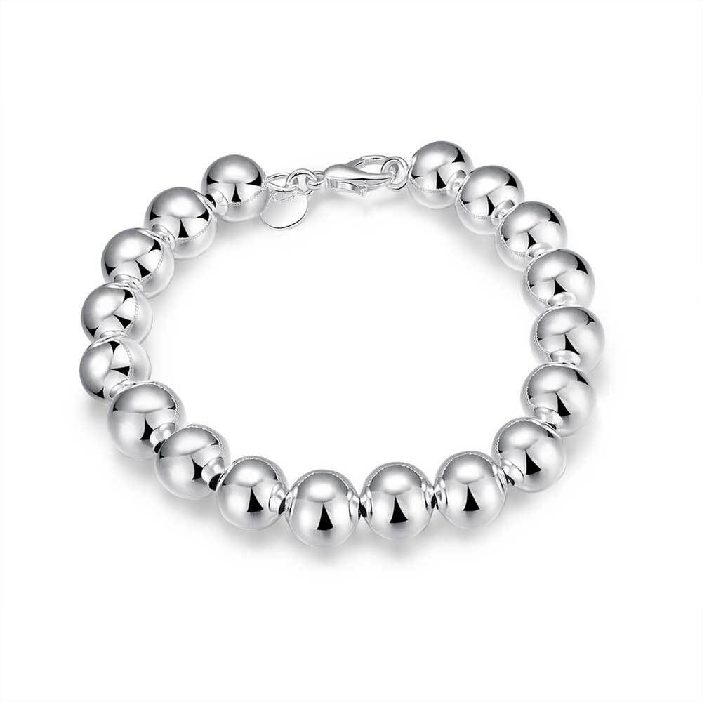 Classic Women's 925 Sterling Silver Layered Solid Ball