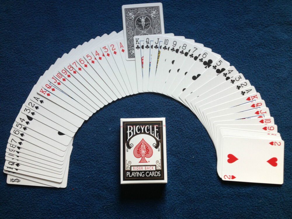Invisible Deck Magic Bicycle Standard Index Rider Back