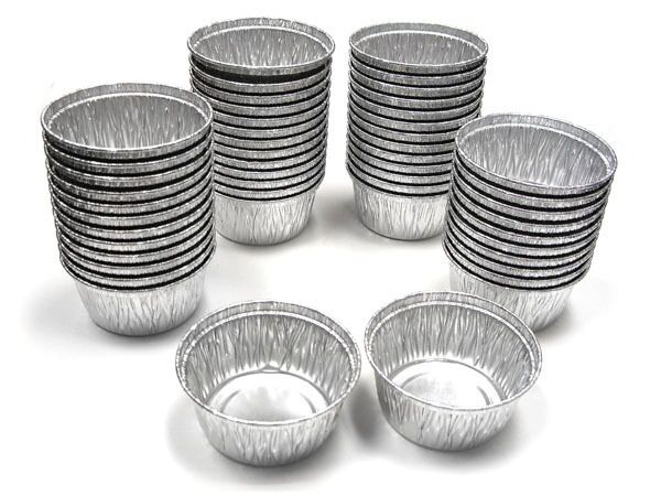 4 Oz Disposable Aluminum Foil Cupcake Muffin Cup Silver