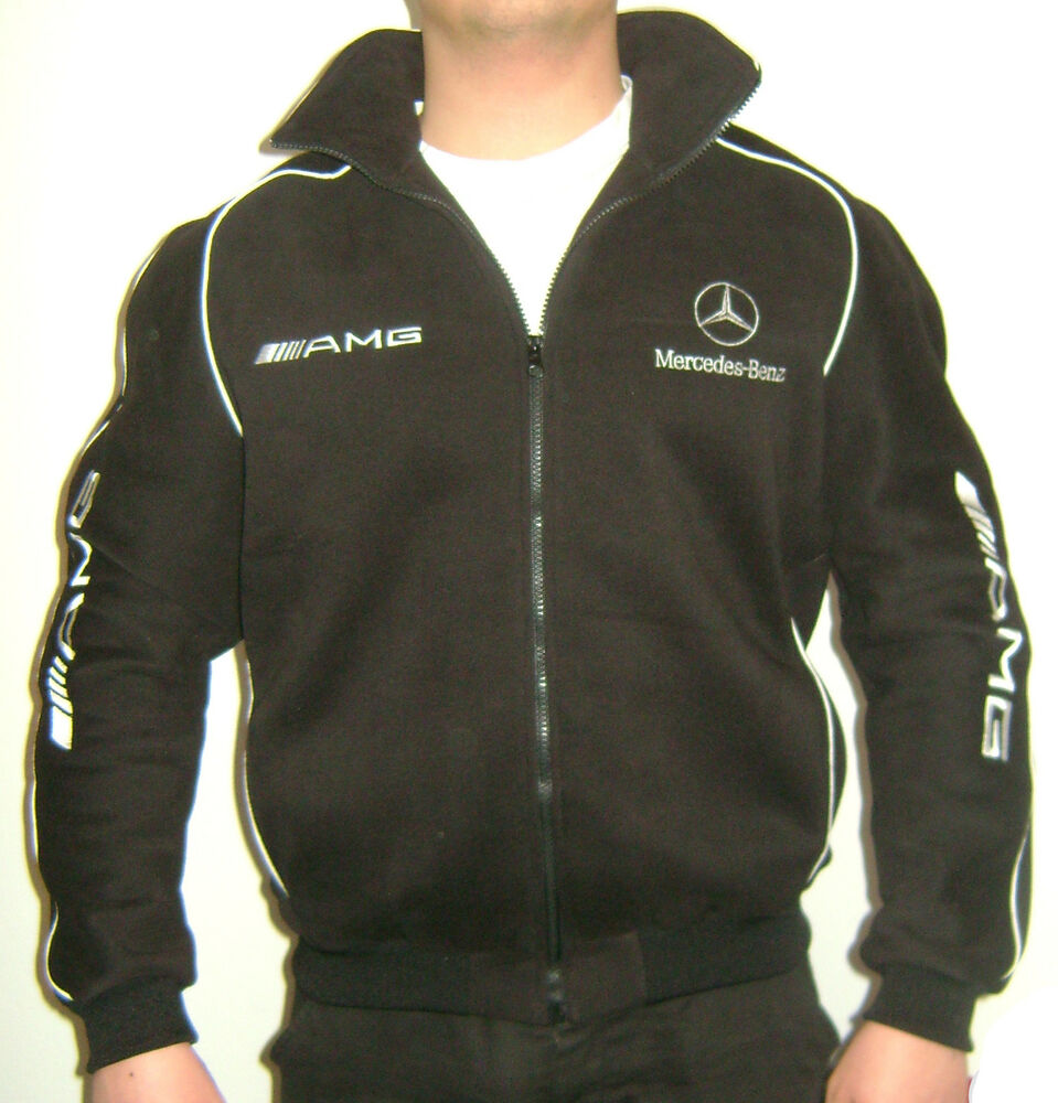 mercedes benz amg jacket fleece material ebay. Black Bedroom Furniture Sets. Home Design Ideas
