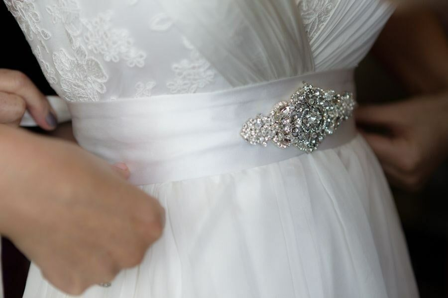 Wedding Dress Accessories Belt : Wedding accessories bridal dress beaded jeweled crystal belt sash