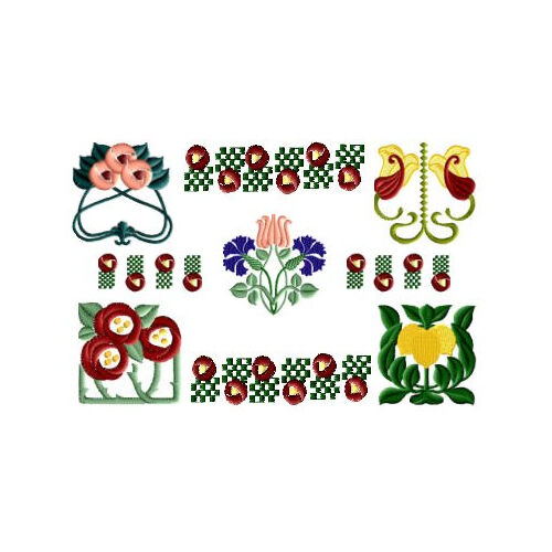 Abc designs art deco machine embroidery set for