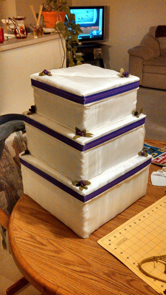 boxes for wedding cake custom made tiered wedding cake card boxes ebay 2049