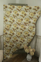 Antique French fabric  Indienne floral / arborescent design c1870 material