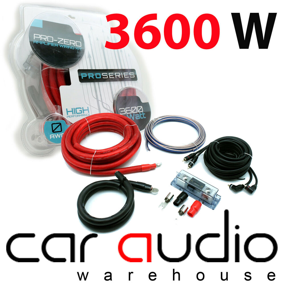 3600 Watts Complete 0 Gauge Awg Car Amp Amplifier Wiring Kit Ct35 High Performance Audio 0awg Ebay