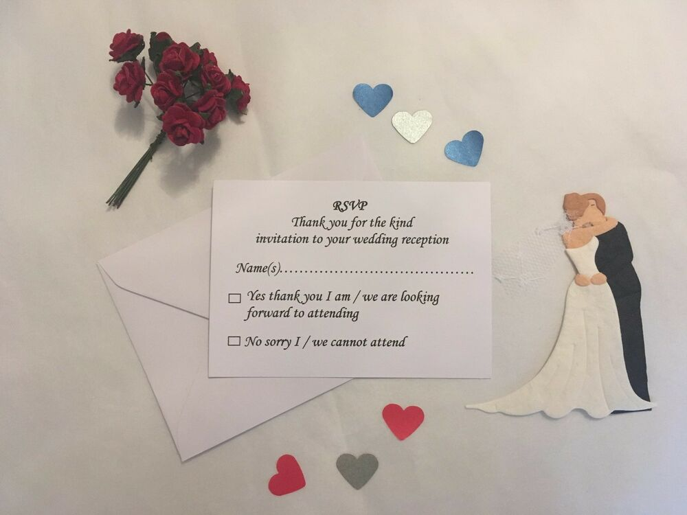 a7    c7 evening wedding reception rsvp cards and envelopes