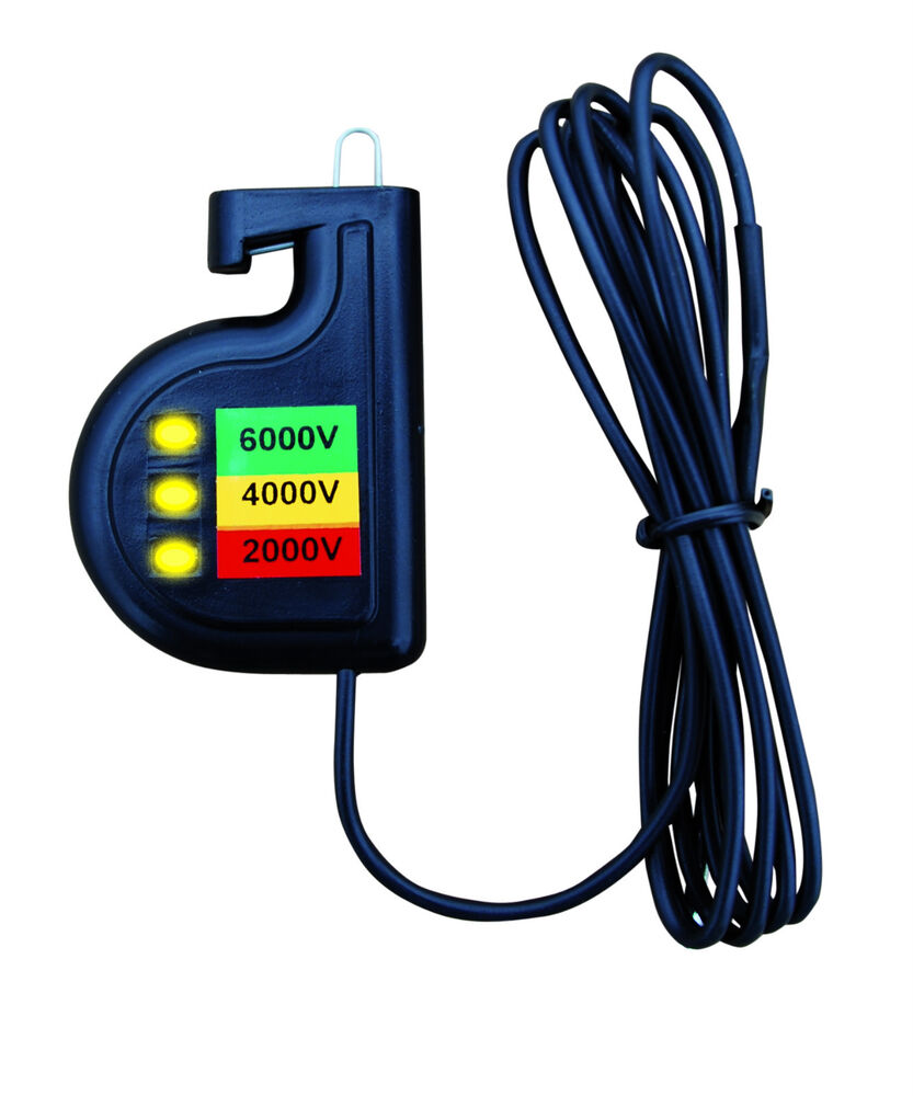 Electric Fence Tester : Electric fence tester for three voltage levels isotester