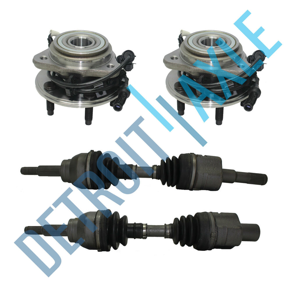 Ford Explorer 4x4 Front Axle : Front left and right cv axle shaft new wheel hubs