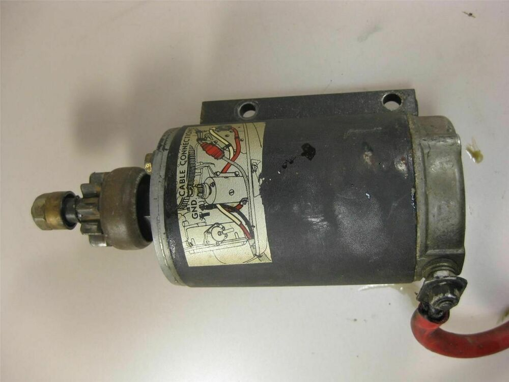 Evinrude Johnson Omc Electric Starter Motor Assembly