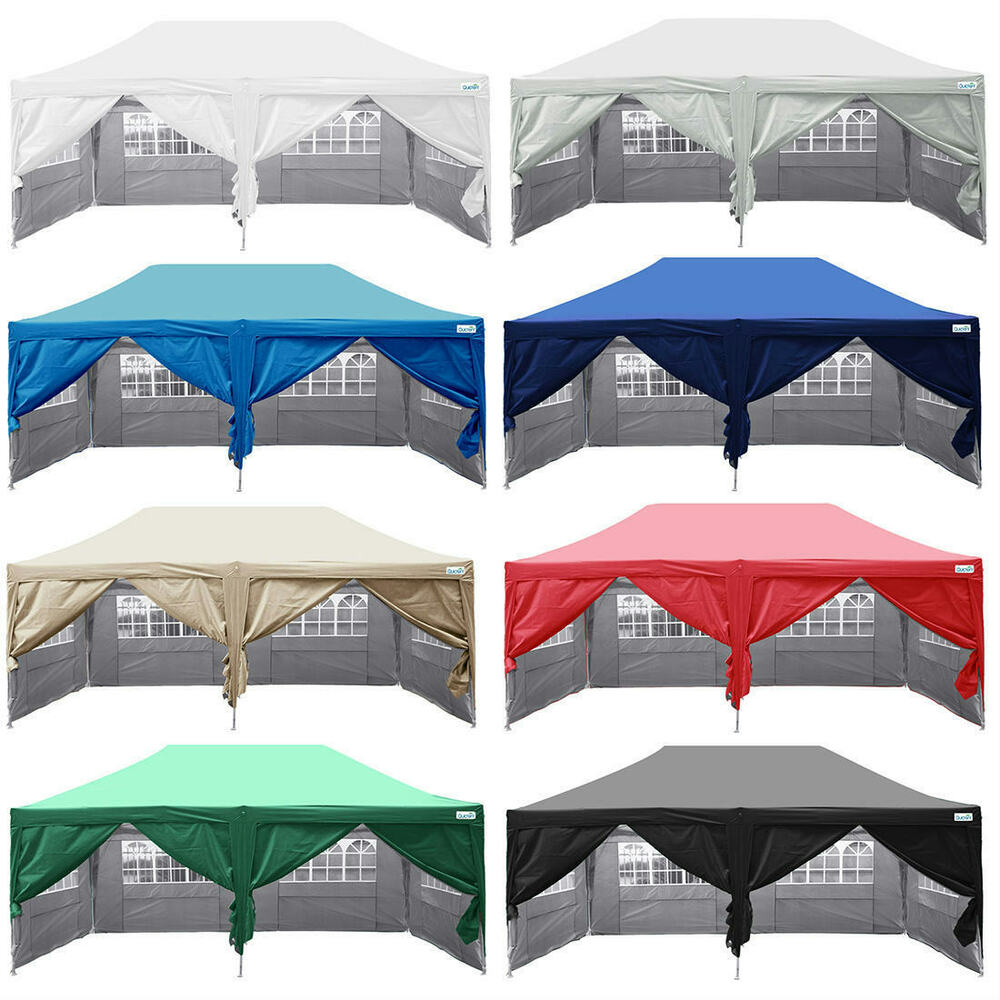 Quictent Silvox 174 10x20 Ez Pyramid Roofed Pop Up Canopy