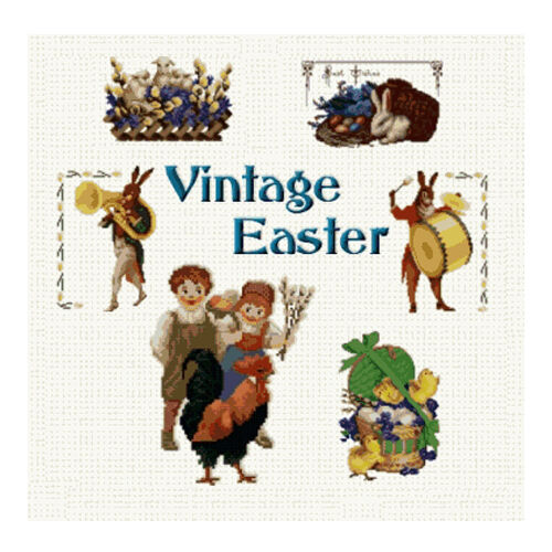 Abc designs vintage easter machine embroidery designs set for Embroidery office design 7 5 full