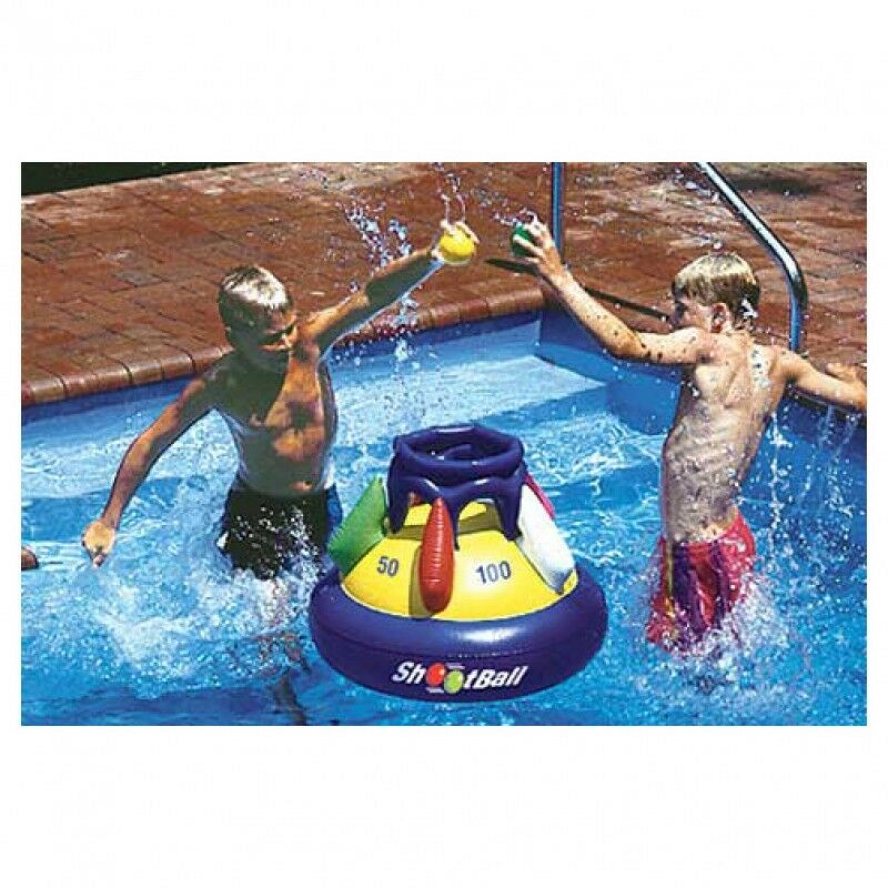 New Swimline Inflatable Shoot Ball Game 9028 Pool Water Toy Basketball Netball Ebay