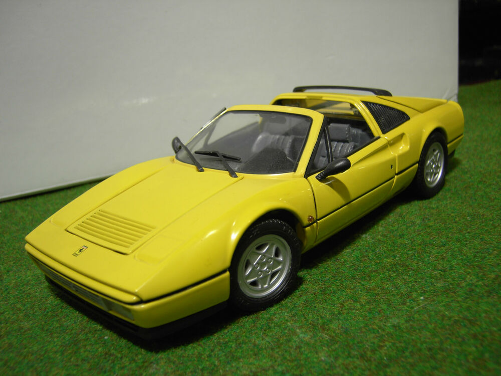 ferrari 328 gts jaune open chelle 1 18 de anson voiture miniature de collection ebay. Black Bedroom Furniture Sets. Home Design Ideas