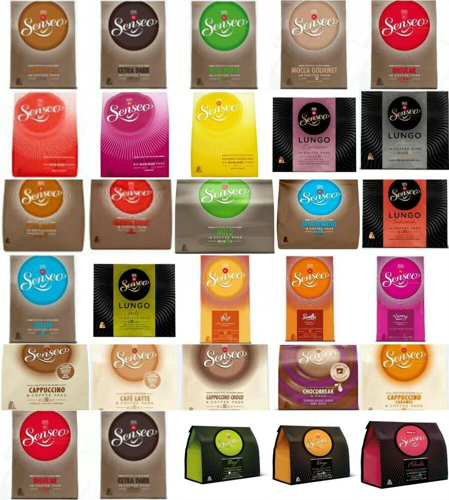 douwe egberts senseo coffee pods pads 27 flavours to choose from ebay. Black Bedroom Furniture Sets. Home Design Ideas