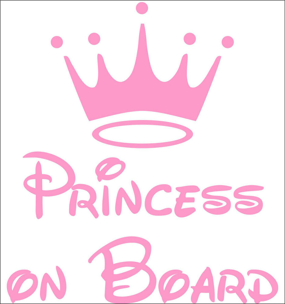 Personalize Princess On Board Decal Sticker Vinyl Art