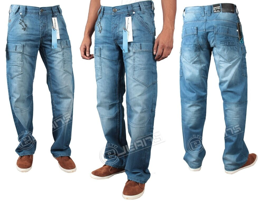 Loose-fit jeans for men have a heritage cut that is timeless. Rugged, percent cotton denim gets softer and more worn-in looking, wash after wash. They sit low on your waist and have a wide, inch leg opening for a roomy fit all the way through the thighs and legs.