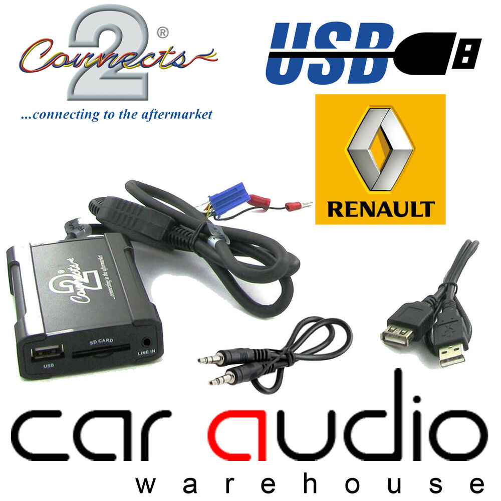 connects2 ctarnusb003 renault clio megane scenic usb sd aux interface adaptor ebay. Black Bedroom Furniture Sets. Home Design Ideas
