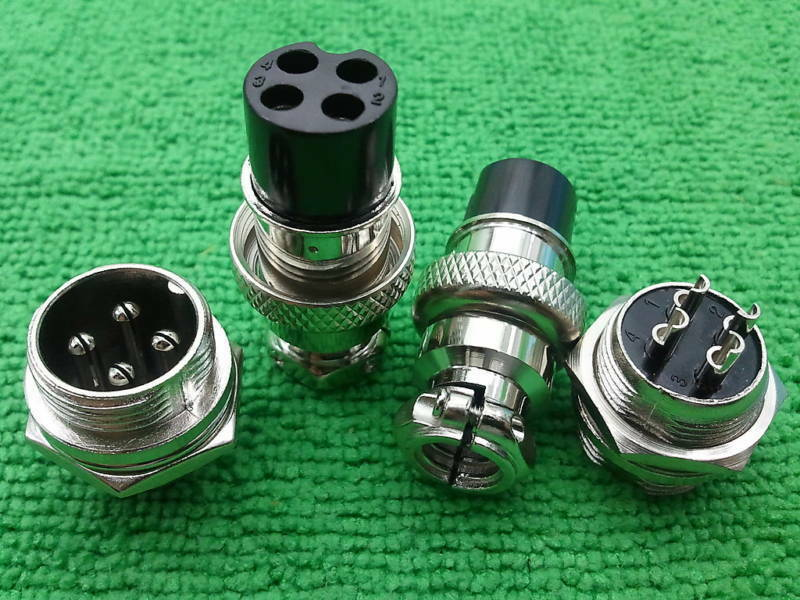 4 Pin Xlr Audio M F Chassis Connector Cnc Bipolar