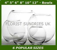 6 SIZES Hand Made Glass Fish Bowls Large Decorative Wedding Vases Flower Display