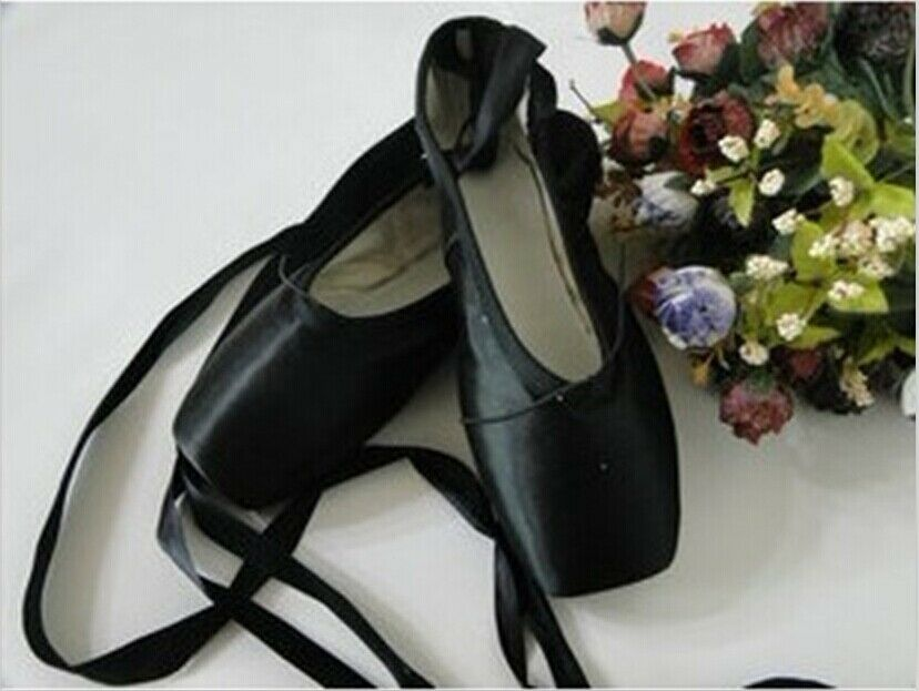 Black Pointe Shoe Ribbon