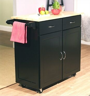 new large kitchen island cart rolling wheels storage cabinets furniture wood top ebay. Black Bedroom Furniture Sets. Home Design Ideas
