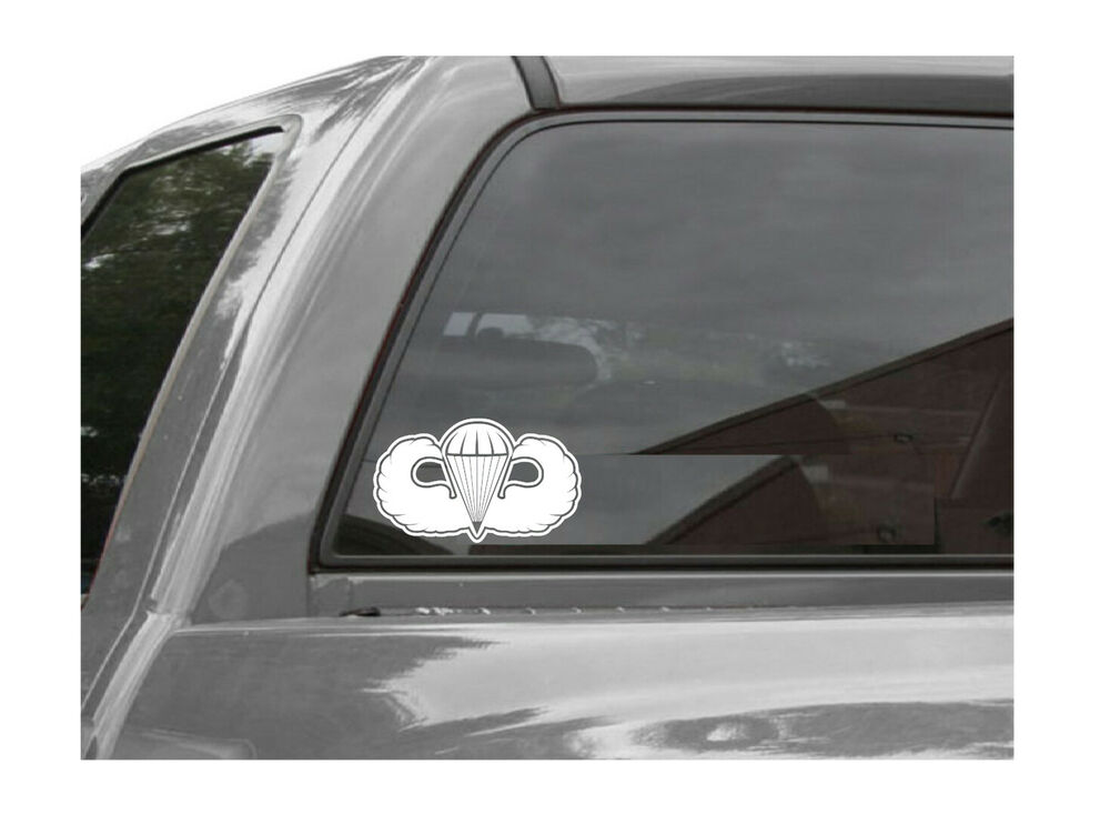 Vinyl Window Decals : Airborne jump wings vinyl window decal sticker ebay