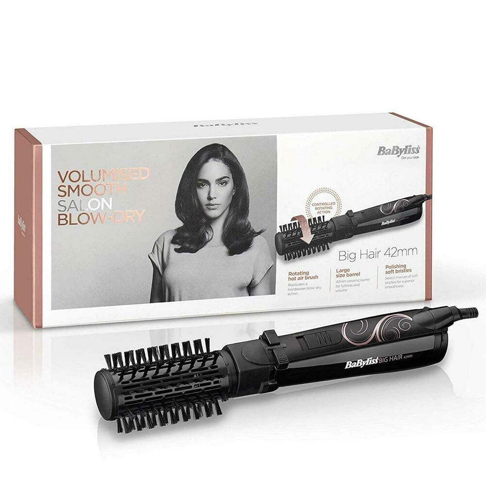 hot air styling brush short hair babyliss 2777u big hair rotating air brush 42mm hair 3116 | s l1000