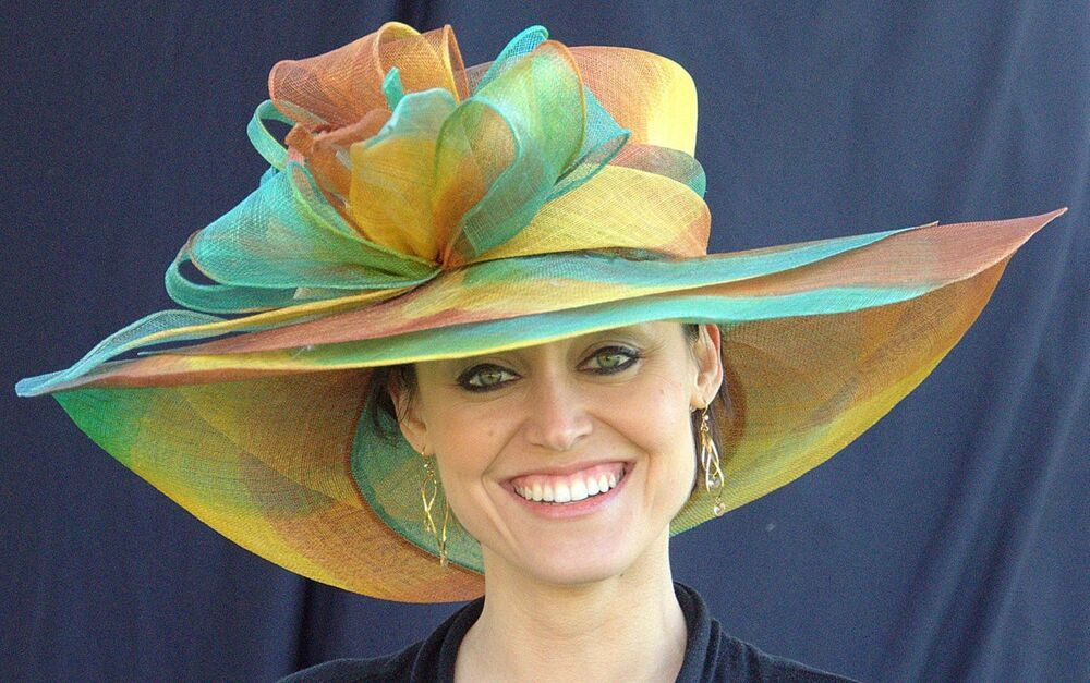 new womens kentucky derby hat show stopper multi colored