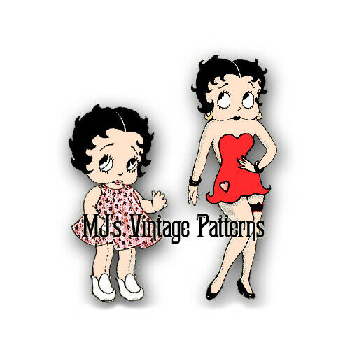 Vintage pattern combo betty boop amp baby betty boop dolls cloth stuffed ebay