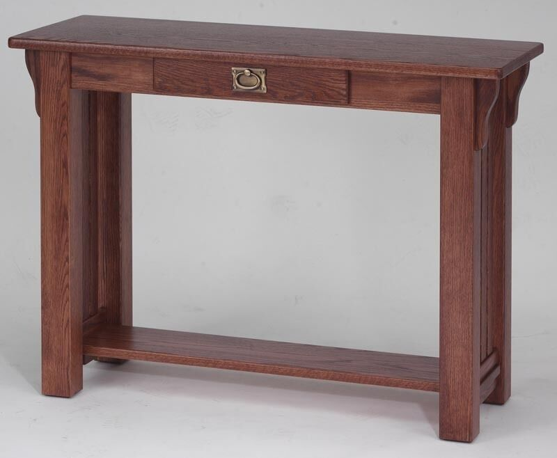 169 Solid Oak Mission Sofa Table Ebay