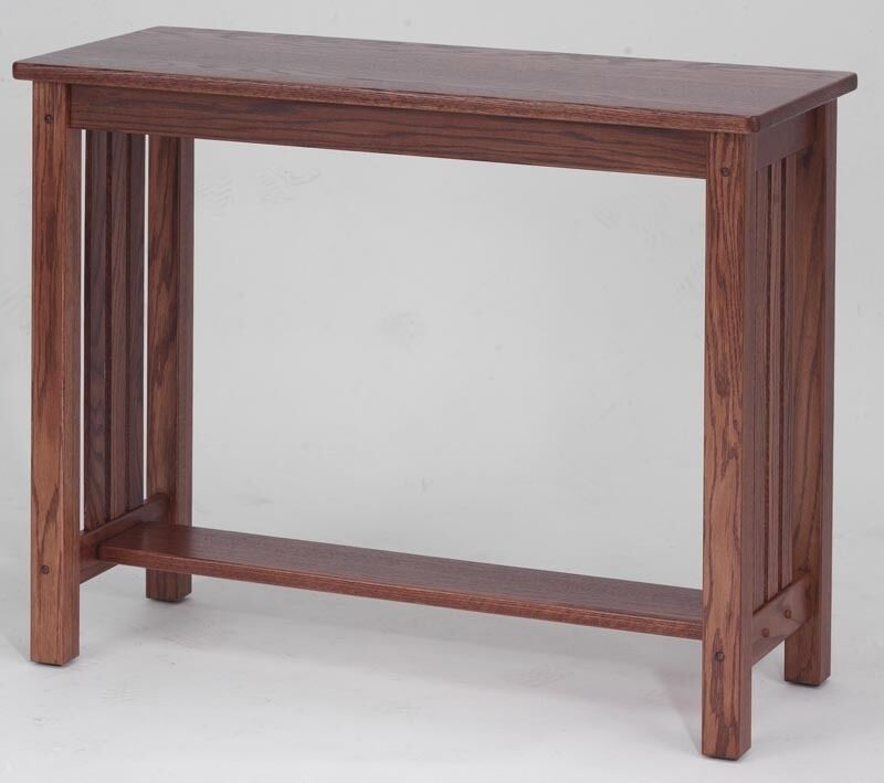 4539 Solid Oak Mission Sofa Table Ebay