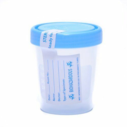 Qty 6 Sterile Specimen Cup Urine Sample Collection Latex