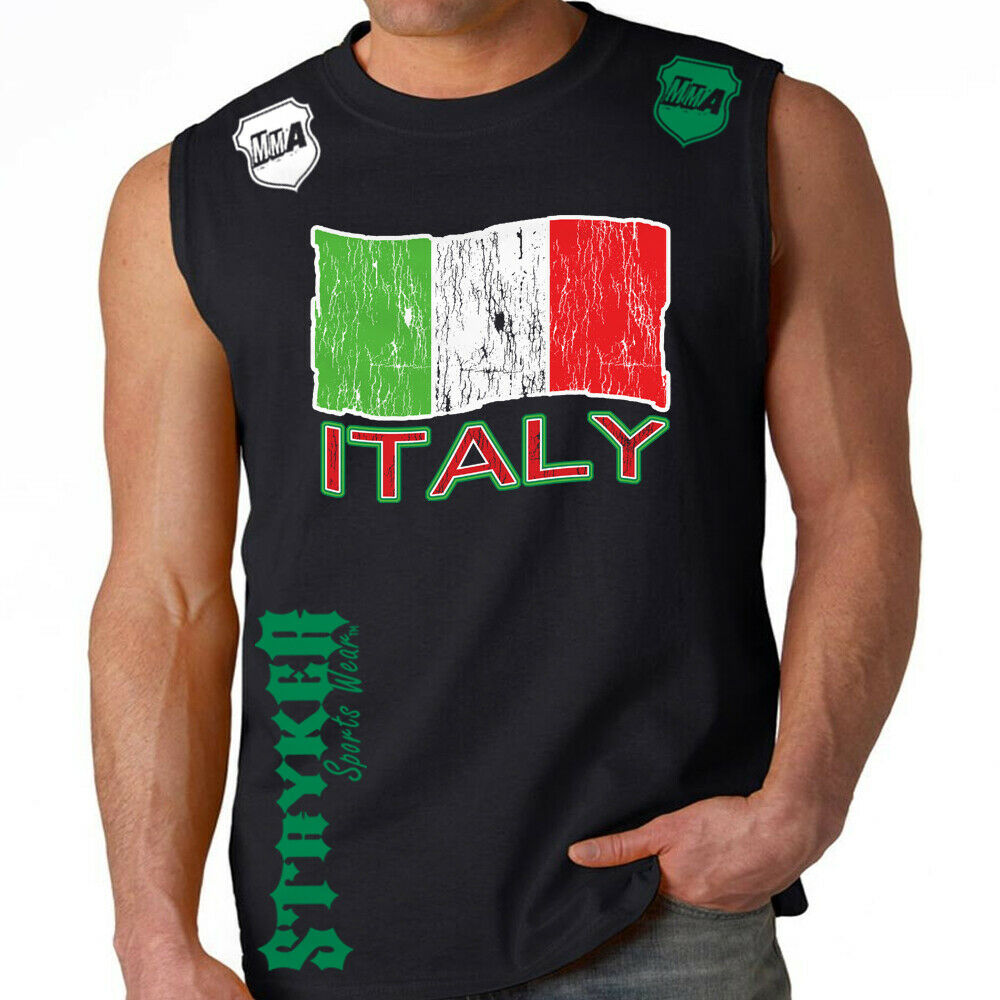 Stryker Sleeveless Muscle Tank Top T Shirt Top Italy Flag