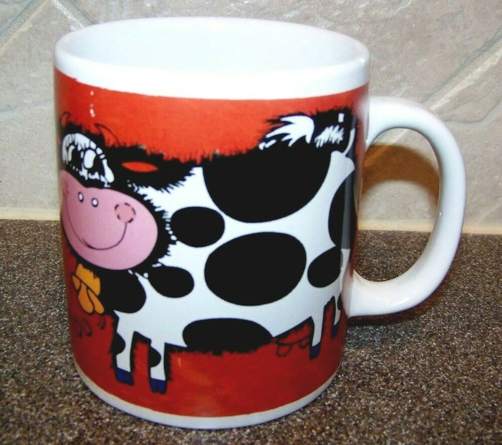Mullberry home collection cow chicken coffee mug tea cup for Mullberry home