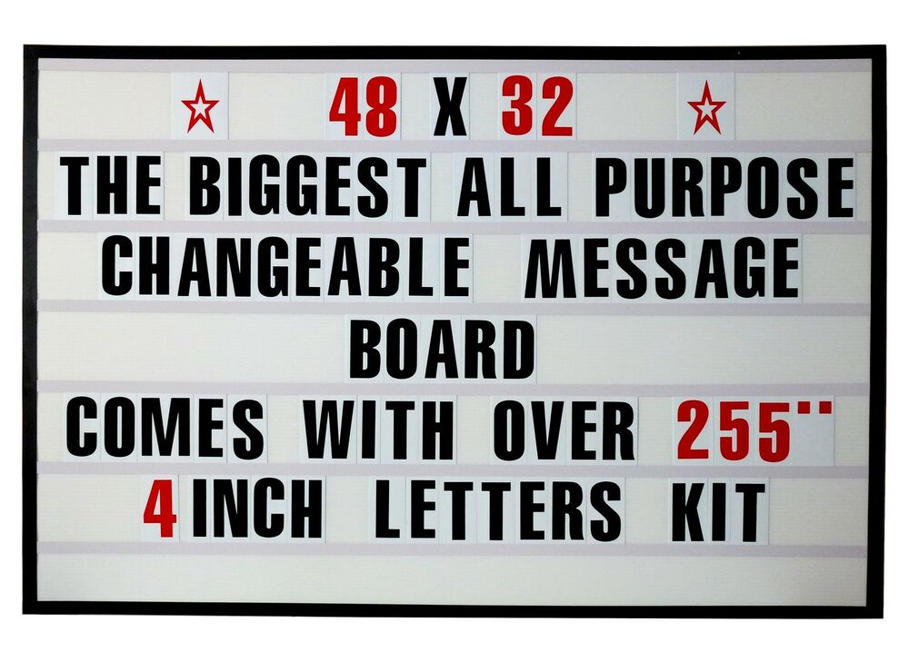 new changeable letters window message new changeable message letters menu board price sign nib 133