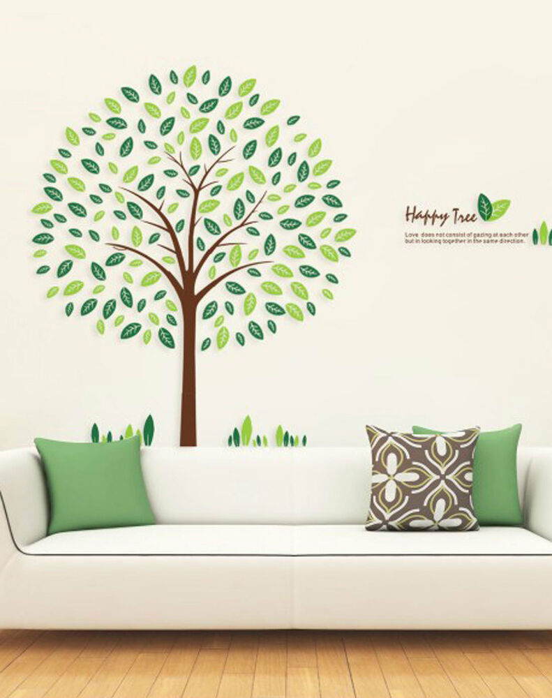Large linden tree wall stickers decal removable diy art for Diy tree wall mural