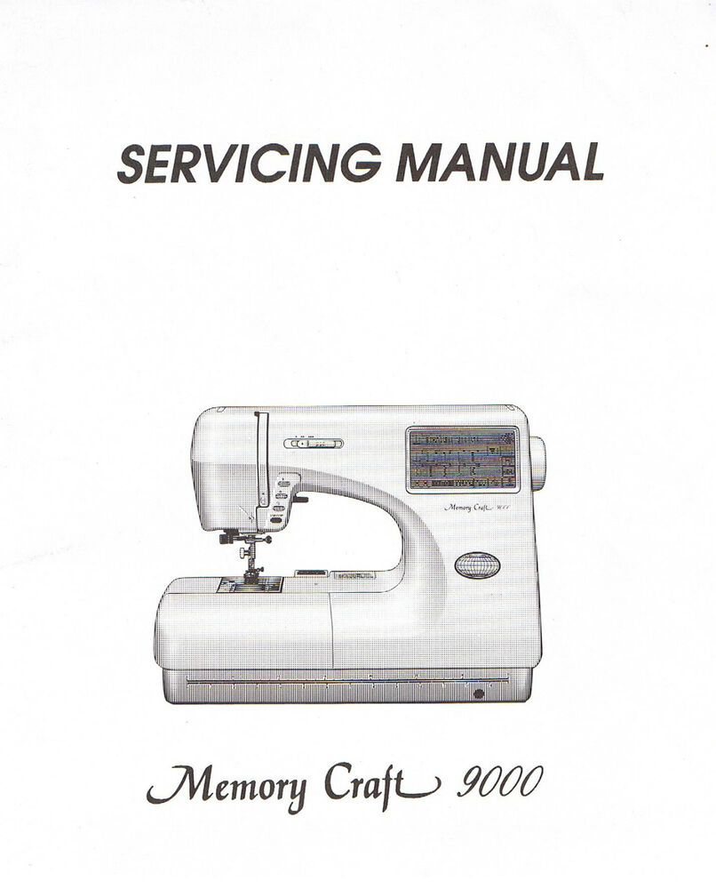 Janome memory craft 9000 sewing machine service repair for Janome memory craft 9000 problems
